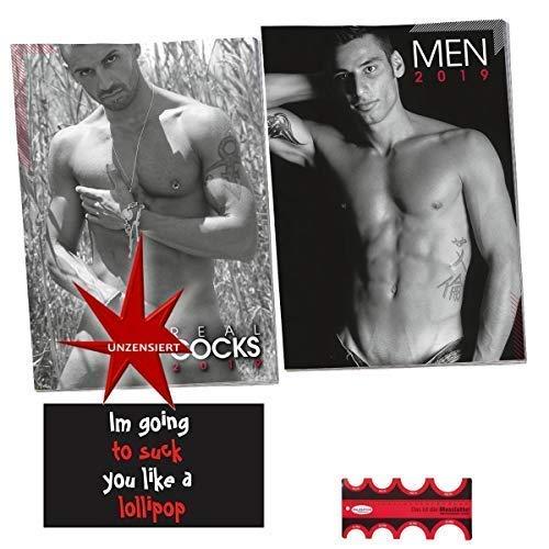 Erotik Kalender Set 2019 nackte Männer & Messlatte inkl. Magnet Im going to