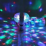 Acogedor Luz de Escenario E27 RGB LED Disco Escenario Luces Lámpara Pelota Lluminación DJ Fiesta Discoteca Bar de Dicoteca(Especifización Europea)