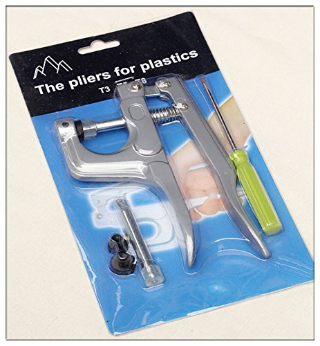 Snap Zange Werkzeug mit Schraubendreher für Kunststoff T3T5T8Druckknöpfen (Snap Setting Tool)