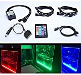 Tingkam kit completo RGB 5050 SMD 2Ppezzi  18 led 30 cm - striscia luminosa a LED con 24 chiavi - telecomando per desktop PC - computer con case mid tower.
