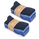 FOOTNOTE Socken, 10 Paar, Damen/Herren, jeanstöne, Größe: 39-42