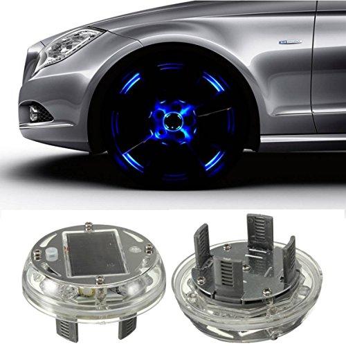 Preisvergleich Produktbild Eximtade Autoreifen Reifen LED Licht Solarenergie Taschenlampe Auto Dekoration Lampe