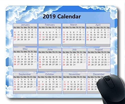 Yanteng Calendario 2019, Alfombrillas de ratón, Alfombrilla de ratón, Cielo Estrellado, Galaxia,...