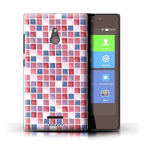 Kobalt® Imprimé Etui / Coque pour Nokia XL / Bleu/Blanc conception / Série Carreau Bain Rouge/Bleu