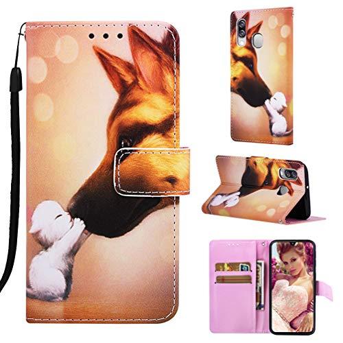 MUSESHOP Funda para Samsung Galaxy A40, Pintado Carcasa Libro de Cuero Flip...
