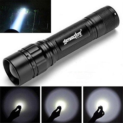 VENMO Linterna, 3000 Lumens 3 Modos CREE XML XPE LED Linterna 18650 Antorcha Lámpara Potente (Negro)