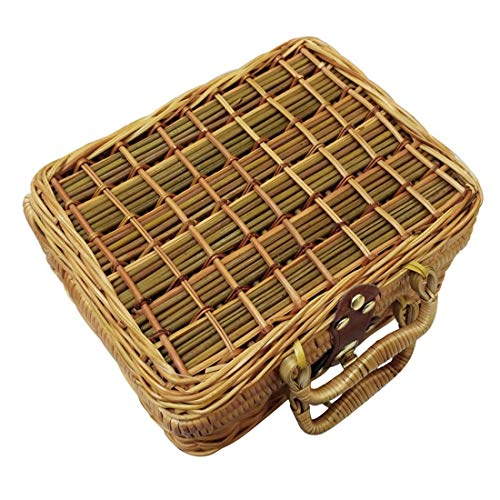 Gaoominy Handgemachte Cane Woven Stangen Damen Tasche Chinesische Kunst Vintage Rattan Korb Bambus Reisetasche Requisiten Tasche