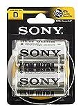 Sony Batería De Zinc-Carbono, Mono, D, R20, De 1,5 V Al Por Menor Blister (2-Pack)