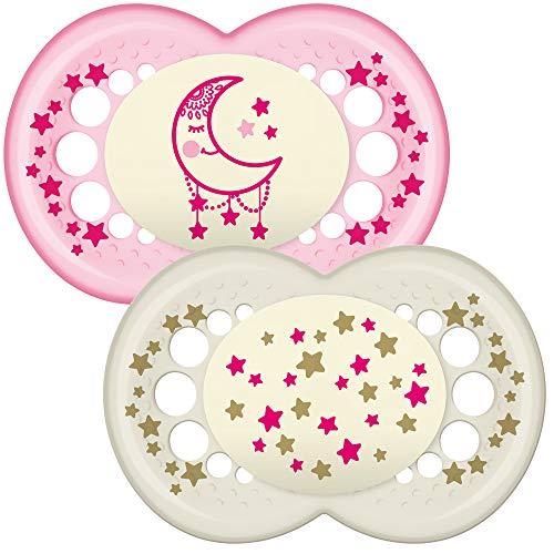 (MAM Nacht leuchten im dunklen Schnuller geeignet für Reiseetui (12 Monate und älter pink) - Rosa)
