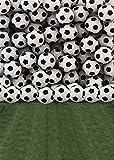YongFoto 1,5x2,2m Vinile Sfondo Fotografico Palloni da calcio Muro Verde Erba Campo Pavimento Sport Fondale Foto Festa Bambini Boby Nozze Adulto Partito Studio Fotografico Puntelli