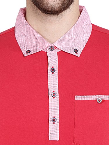 485397338 Dream of Glory Inc. Men s Half Sleeve Cotton Polo Buttoned Woven Shirt  Collar and Pocket