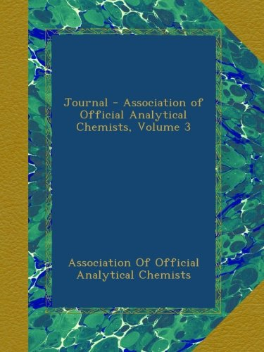 Journal - Association of Official Analytical Chemists, Volume 3