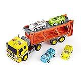 ThinkGizmos Reibungsbetriebener Spielzeug mit Lichtern und Sound – Reibungsbetriebener Spielzeug-LKW (geschützte Marke) (Autotransporter)