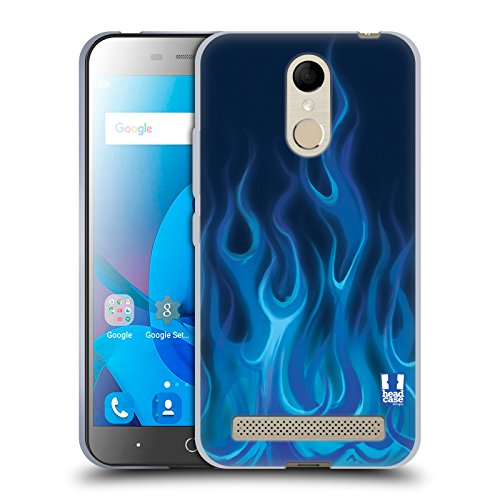 Head Case Designs Blau Feuer Hot Rod Flamme Soft Gel Hülle für ZTE Blade A602