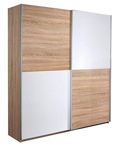 Avanti trendstore - rubito - armadio in quercia sonoma/ bianco d'imitazione, 181x197x62cm