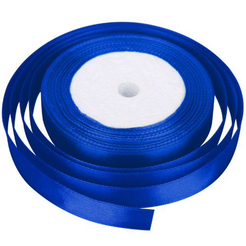 celldeal-new-22-metres-of-satin-wedding-party-ribbon-15mm-in-multiple-colours-pack-rolls-royal-blue