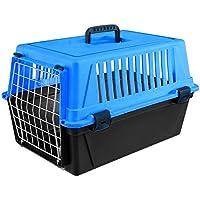 Ferplast ATLAS 10 Einfache und leichte Transportbox aus hochwertigem Kunststoff geeignet für kleine Hunde oder Katzen. Pink/schwarz