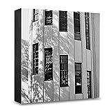 COGNOSCO - Foto-Holzblock groß - 20x20cm - Wandbild mit Architektur-Fotografie Weimar - Bauhaus-Universität