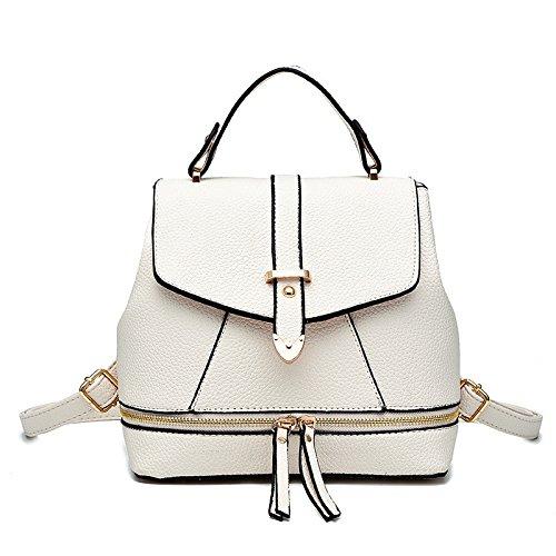 Mefly Borsa a tracolla Ladies College Style croce obliqua borsa blu cielo white