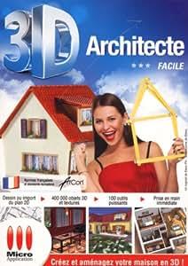 3d architecte facile 14 logiciels for Architecte 3d amazon