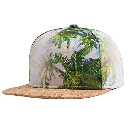 zlyc-new-fashion-high-quality-landscape-palm-wave-temple-digital-print-hat-adjust-baseball-snapback-