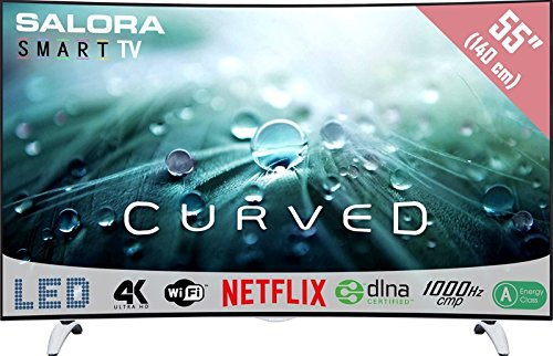 """Salora Salora 55UHC9202MS 55"""" 4K Ultra HD Compatibilité 3D Smart TV Wifi Noir, Argent écran LED"""
