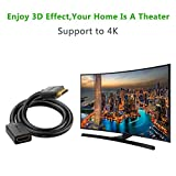 UGREEN HDMI Cable Extension, HDMI Male to Female Cable, 4K 3D HDMI Extension Lead for HDTV, PC, Laptop, Roku, Xbox One / 360, PS 3 / 4, Chromecast Ultra, Oculus Rift CV1 and More