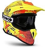 "Soxon SKC-33 Set ""Fusion Neon"" · Kinder-Cross-Helm · Motorrad-Helm MX Cross-Helm MTB BMX Sport · ECE Schnellverschluss SlimShell Tasche S (53-54cm)"