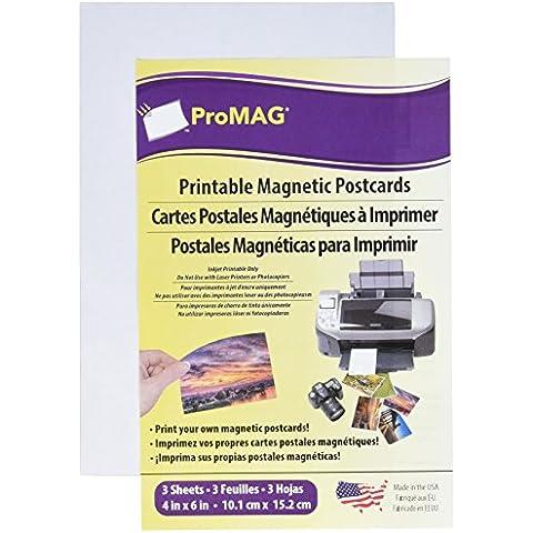 ProMag White Inkjet Printable postal Imán -4-inch X 15,2cm brillo/mate, otros, multicolor