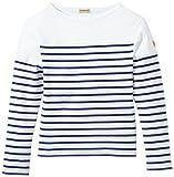 Armor Lux Jungen T-Shirt K1867, Blanc (Dw5 Blanc/Étoile), 104 (Herstellergröße: 4 ans)
