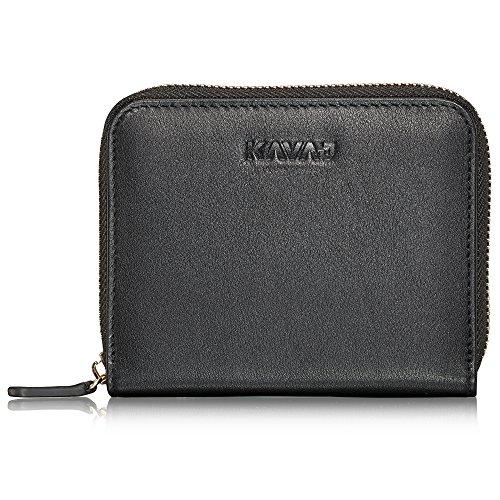 KAVAJ Damen Geldbörse Portemonnaie Leder