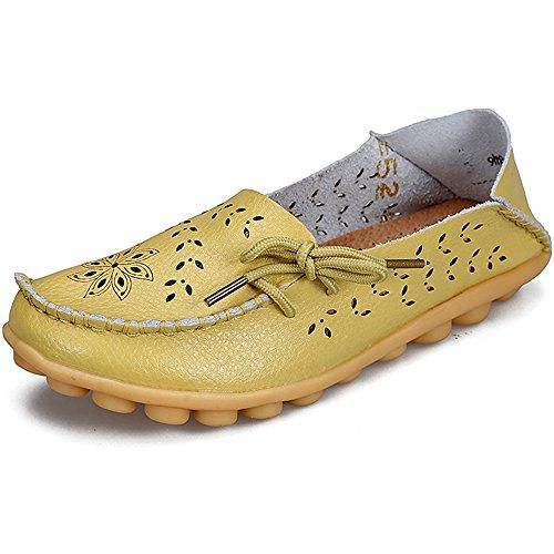 Eastlion Hohle Lederne Loch-Schuh-flache Untere Schuhe Beil盲ufige Krankenschwester-Schuhe Farbe 13