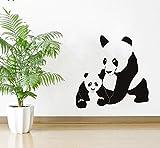 Wuyyii 57X57 Cm Wandtattoo Panda Und Cub Wandaufkleber Kinder Schlafzimmer Home Art Decor Zoo Poster Nette Wilde Tiere Vinyl Dekoration