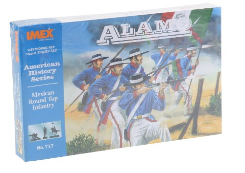 mexican-round-hat-infantry-at-the-alamo-american-history-series-1-32-plastic-soldiers-by-imex