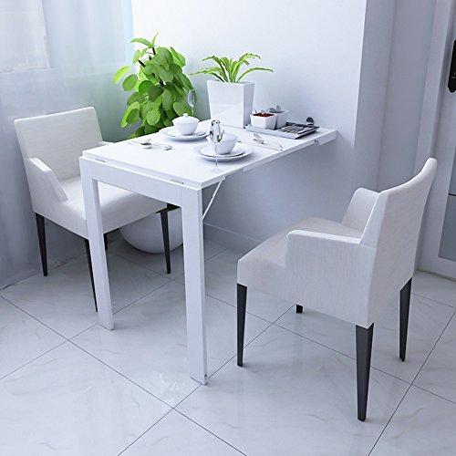 GYYZDZ ZZ Klapptisch Klapptisch/Wandklapptisch/Klappbarer Esstisch/Computertisch/Multifunktions Klapptisch/Home Wand-dekorativer Tisch (Farbe : Weiß) (Buffet-tisch Zum Verkauf)