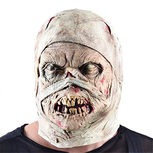 Jiahe Halloween Maske Zombie Latex Bloody Scary Disgusting Full Face Maske Kostüm-Party Cosplay Prop, geeignet für die meisten Erwachsene