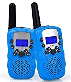 Flybiz Walkie-Talkie, Ricetrasmittente 8 Canali 2 x Walkie Talkies PMR446MHZ per Bambini 2 Way Radio Interphone PortatileFino a 3300 Metri / 2 Miglia (Blu)