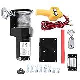 Kit di verricello elettrico, 980 kg, per veicoli elettrici, con telecomando, 12 V, per rimorchio e camion