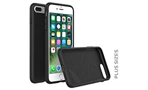 RhinoShield Case For iPhone 8 Plus/iPhone 7 Plus [PlayProof] | Heavy Duty Shock Absorbent [High Durability] Scratch Resistant. Ultra Thin. 11ft Drop Protection Rugged Cover - Black