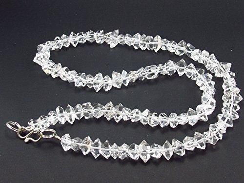 Herkimer Diamant Quarz Halskette von Perlen aus New York-45cm (Quarz-diamant-halskette)
