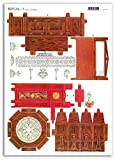 Accademia del Decoupage 32 x 45 cm Reloj de péndulo de krishnaa Shyam ' House Muebles de Papel de arroz