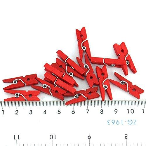 Leisial 50 Pièces Pinces à Linge Clip Photo Craft Clips en Bois Papier Photo vêtements Pinces Maison Décoration