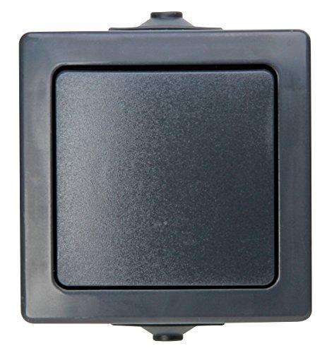 Kopp 565715005Nautic-Interruptor de Cruce,-, para Zonas húmedas, 250V (10A), IP44, Antracita