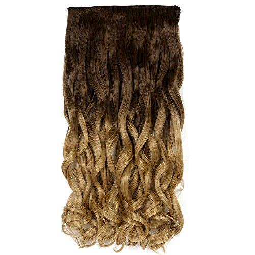 Never land ombre estensioni dei capelli clip in capelli estensioni