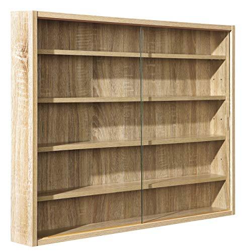 H24living Setzkasten Holz Sammlervitrine Setzkasten mit Glasscheiben zum Aufhängen mit 4...