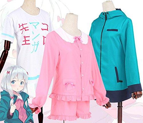 Skylynn--Anime Eromanga Sensei Spielzeug Izumi Sagiri cosplay Kostüme, Mailen Sie uns Ihre Größe (L 160-165cm 50-55kg, (Sensei Kostüm)