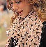ANKKO Print Katzen transparentem Chiffon Wrap Schal langen Schal Fashion Schals für Frauen