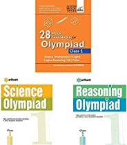 28 Mock Test Series for Olympiads Class 1 Science, Mathema&Science Olympiad Class 1st&Reasoning Olympi