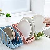 #9: Woogor 1 PC Plastic Kitchen Tableware Dish Cutlery Utensils Plate Sponge Shelf Drying Draining Rack Organizer Drainer Storage Tray Holder (Assorted Color)