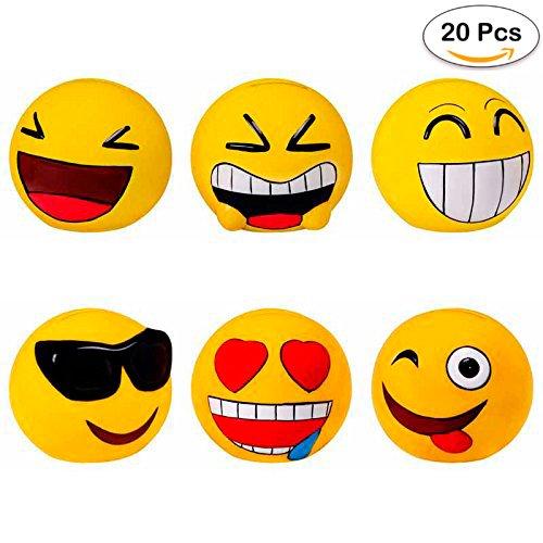 Lote de 20 Huchas Emoticonos - Huchas para Niños